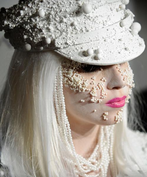 Lady Gaga at the amFAR gala in  NYC