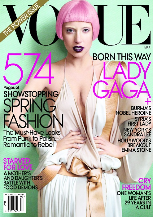 Lady Gaga on Vogue Cover