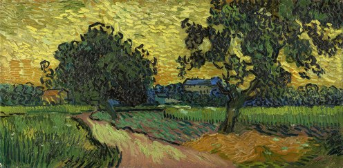 Landscape at Twilight, Vincent van Gogh, 1890